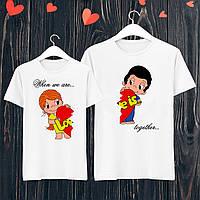 Парные футболки с принтом Love Push IT