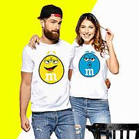 Парные футболки с принтом M&M s Push IT XS, Белый