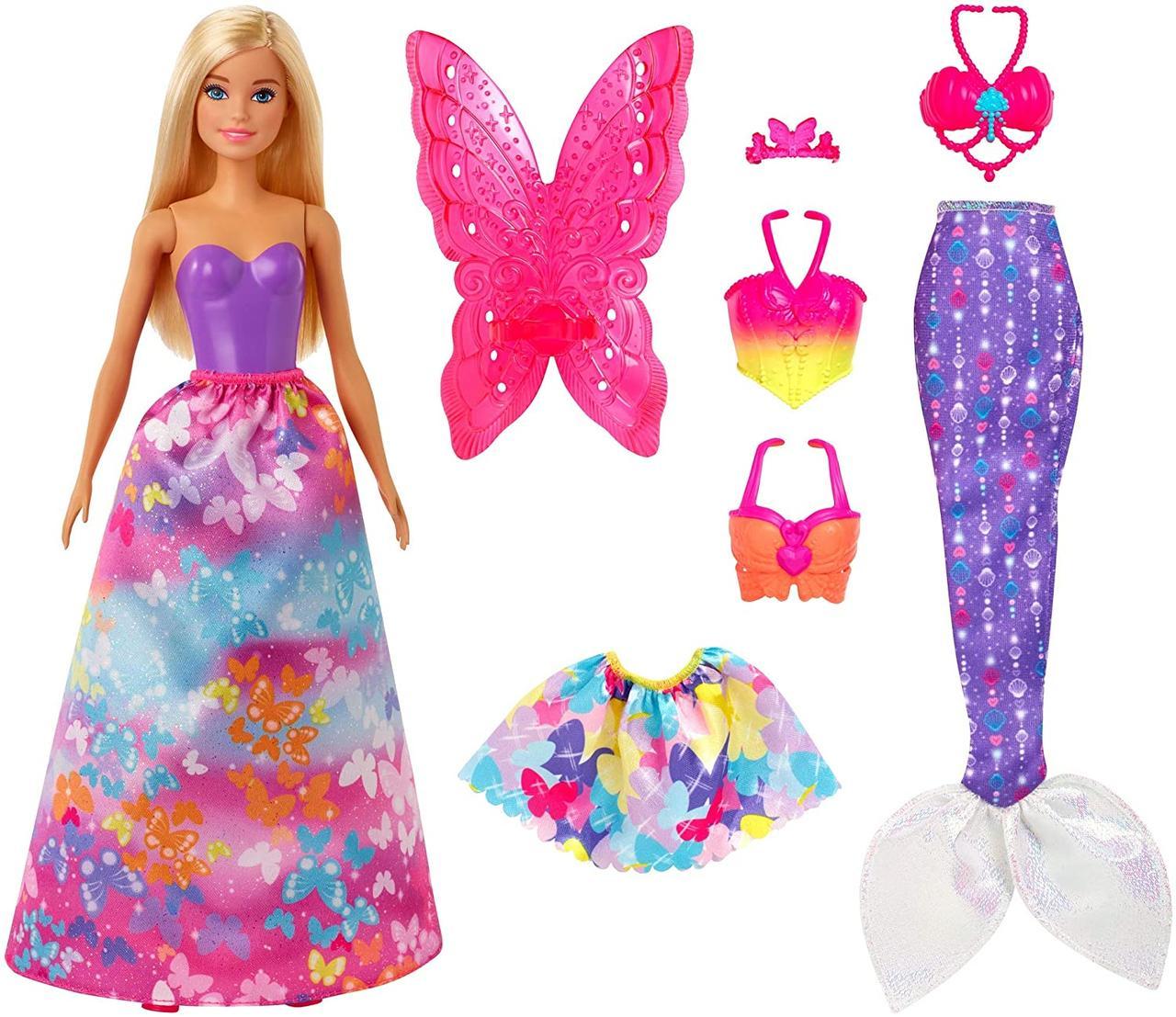 Кукла Барби Сказочное Перевоплощение Barbie Dreamtopia Dress Up Doll Gift Set , Blonde GJK40