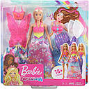 Кукла Барби Сказочное Перевоплощение Barbie Dreamtopia Dress Up Doll Gift Set , Blonde GJK40, фото 6