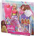 Кукла Барби Сказочное Перевоплощение Barbie Dreamtopia Dress Up Doll Gift Set , Blonde GJK40, фото 7