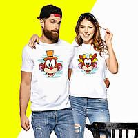 Парные футболки с принтом Мартышки Push IT XS, Белый