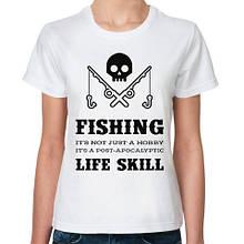 "Мужская футболка для рыболова ""Fishing life skill"" Push IT"