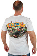 "Мужская футболка для рыболова ""За улов"" Белый Push IT"