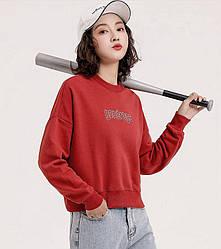 Свитшот женский Entourage, бордовый Berni Fashion (S)