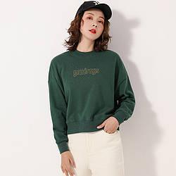 Свитшот женский Entourage, зеленый Berni Fashion (S)