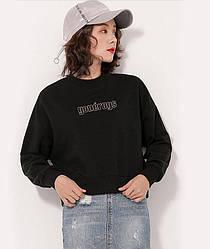 Свитшот женский Entourage, черный Berni Fashion (S)