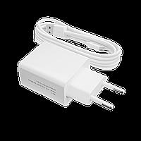 Зарядний пристрій LP АС-013 USB 5V 2,4 A + кабель USB Type-C 2м (Білий) /OEM