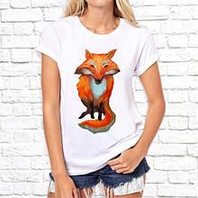 Женская футболка с принтом Лисица рыжая Push IT