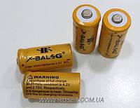 Аккумуляторная батарейка X-BALOG - Li-Ion 16340 (CR123A) 4,2V 5800mAh, фото 1