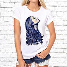 Женская футболка с принтом Девушка Push IT