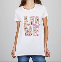 Женская футболка с принтом Love Push IT