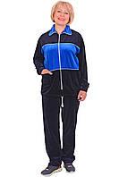 Женский велюровый спортивный костюм (размеры XL-4XL)