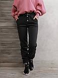Темно-серые теплые штаны с нашивками на манжетах  vN10534, фото 4