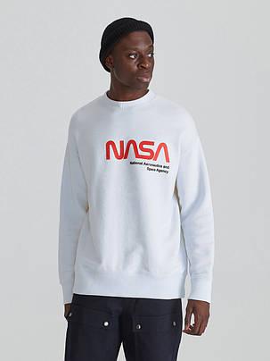 Свитшот белый NASA Re • кофта наса, фото 2