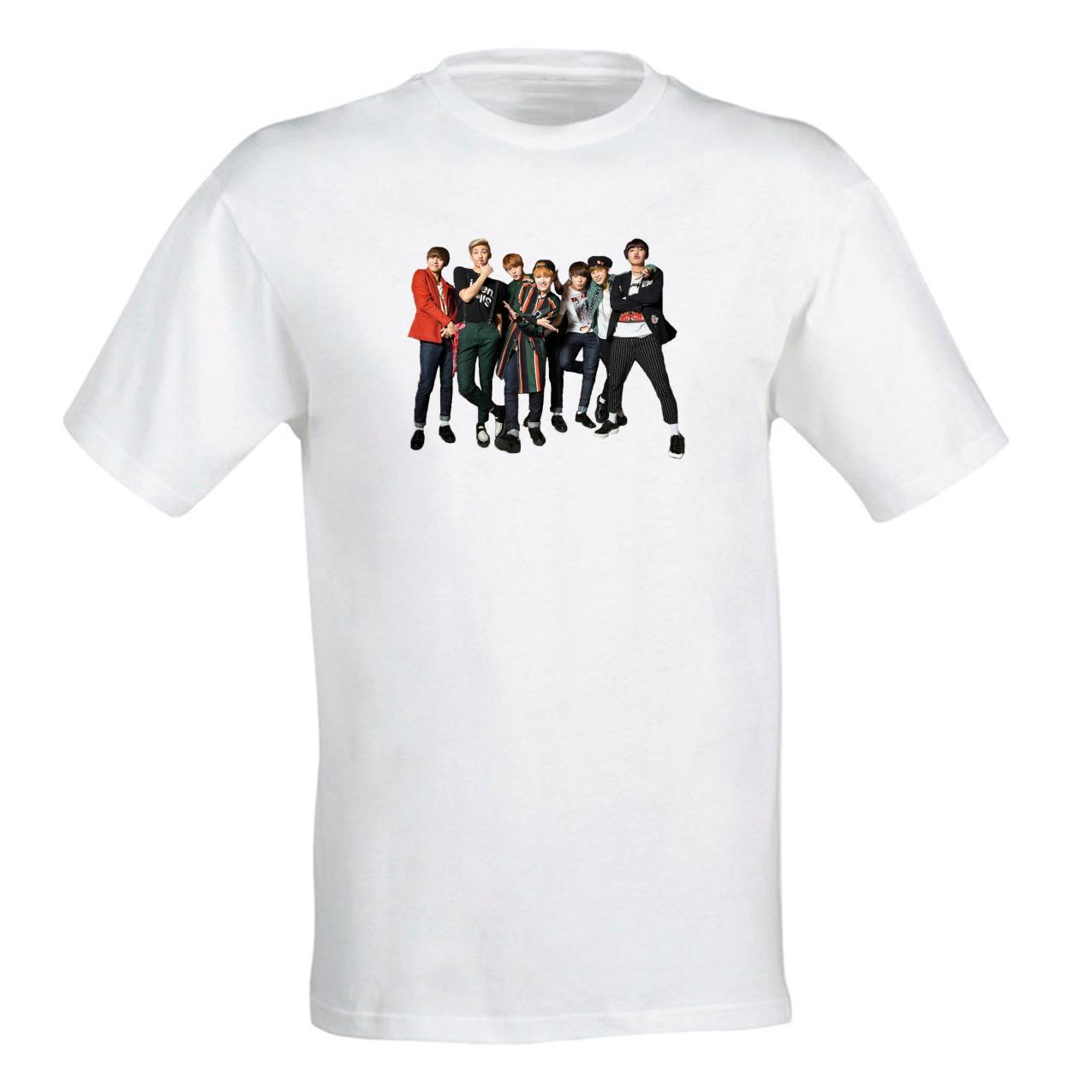 Жіноча футболка з принтом групи BTS 7 Push IT