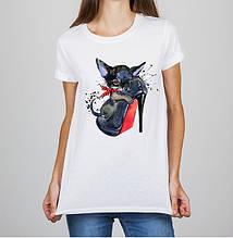 Женская футболка с принтом Собака Push IT