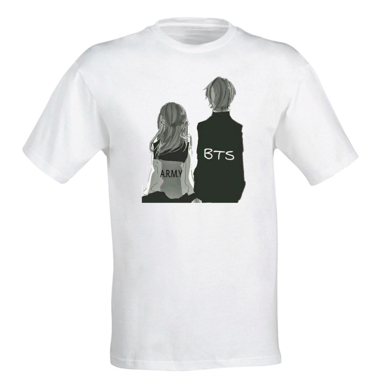 Женская футболка с принтом группы BTS и A.R.M.Y Push IT