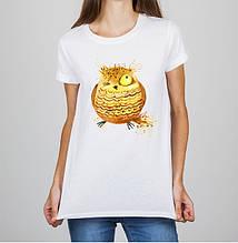Женская футболка с принтом Сова Push IT