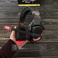 Игровые наушники Ovleng GT96 с микрофоном и подсветкой геймерские для компьютера и ноутбука RGB