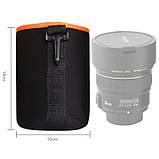 Чехол для объектива AccPro CA-1791E-M black/orange, фото 2