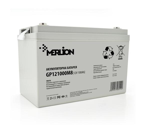 Аккумулятор Merlion AGM GP121000M8, 12 Вольт, 100 Ач