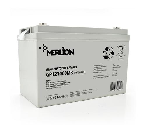 Аккумулятор Merlion AGM GP121000M8, 12 Вольт, 100 Ач, фото 2