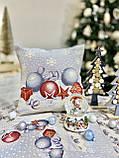"""Декоративная  односторонняя наволка """"Квітчасте різдво"""", гобелен,  45*45 см, фото 2"""