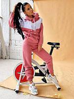 Стильный, теплый и удобный спортивный костюм с капюшоном розовый / Теплий жіночий спортивний костюм рожевий