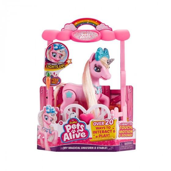 Интерактивный игровой набор PETS ALIVE – Розовый Единорог в Домике 9502P