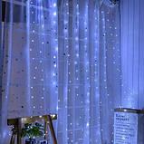 """Гирлянда Штора на проволоке """"Капля росы"""" 3 х 2 м 200 LED Холодный белый, фото 2"""