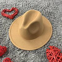 Шляпа Федора унисекс с устойчивыми полями Original бежевая