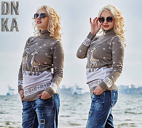 Женский теплый свитер с зимним рисунком, фото 2