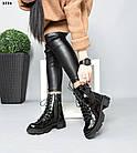 Демисезонные женские черные ботинки, натуральная лакированная кожа, фото 3
