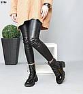 Демисезонные женские черные ботинки, натуральная лакированная кожа, фото 5