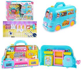 Детский игровой набор Funny Dining Car | Набр фургон, продукты, столовые приборы
