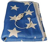 Простынь с подогревом Electric Blanket 7420 150х120 см синяя с белым