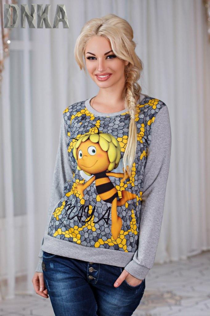 Женский свитшот пчелка