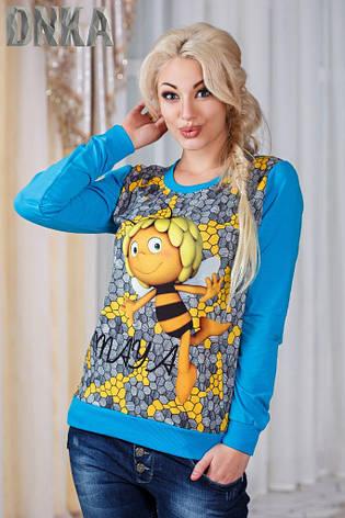 Женский свитшот пчелка , фото 2