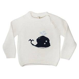 В'язаний светр для новонародженого,унісекс, розміри 12/18, 18/24, 24/36 міс