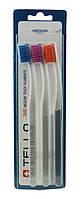 Набір зубних щіток Tello 3940 medium середньої м якості Trio 3 шт.