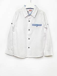 Біла сорочка для хлопчика, розміри 2/3, 3/4, 5/6, 6/7 л.