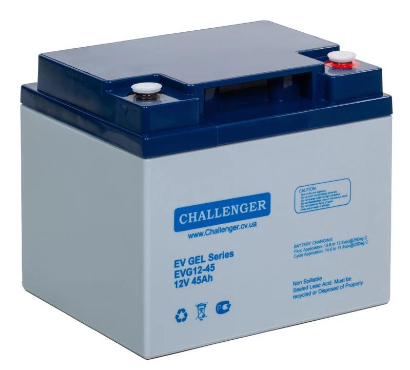 Гелевый тяговый аккумулятор Challenger EVG12-45 (12 Вольт, 45 Ач)