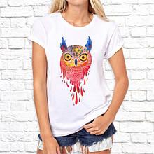 Женская футболка с принтом Сова 3 Push IT