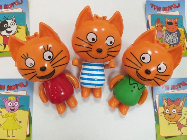 Набор Фигурки Три кота на листе 3 шт