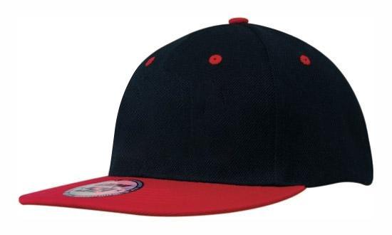 Кепка бейсболка Snapback черно-красная Headwear proffesional - Black Red 4106