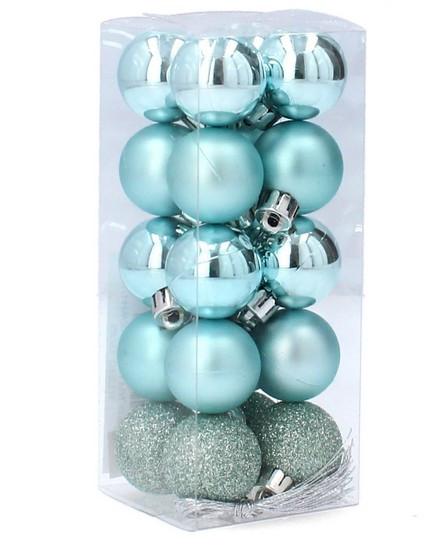 Набор пластиковых шаров, 20 шт., 3,6 см., цвет бирюзовый
