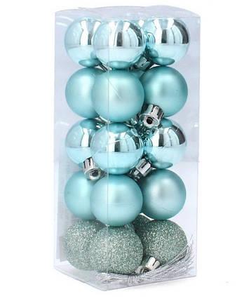 Набор пластиковых шаров, 20 шт., 3,6 см., цвет бирюзовый, фото 2