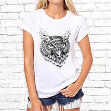 Женская футболка с принтом Серая Сова Push IT