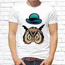 Мужская футболка с принтом Сова из мультика Push IT